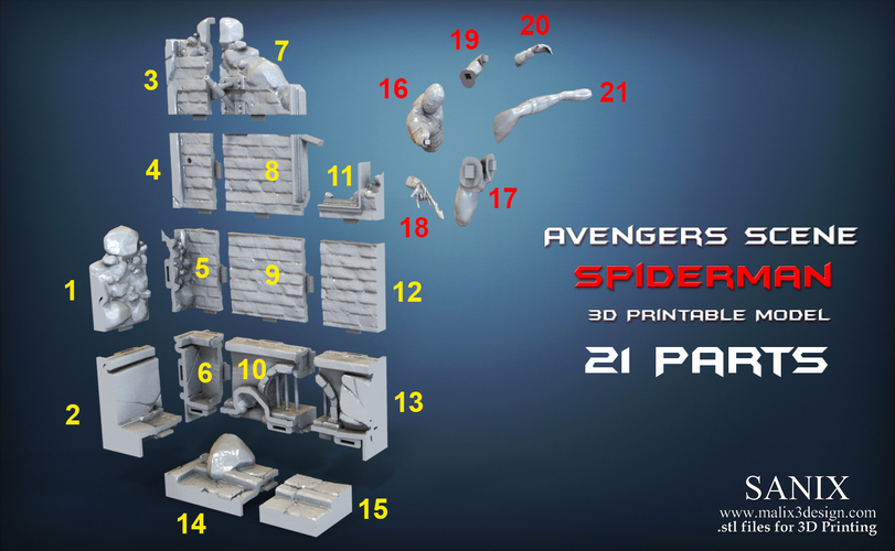 Avengers scene - SPIDERMAN / 3D Printable Model 3D Print 141681