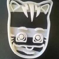 Small catboy cookie cutter 3D Printing 141713