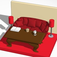 Small lounge room model 3D Printing 14173