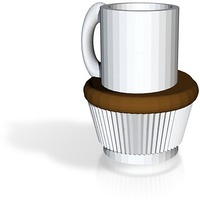 Small fullsized coffee cup cake cup all files 3D Printing 14175