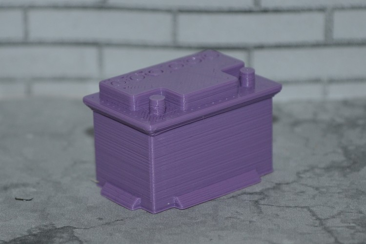 Scale 1/10 12V car battery 3D Print 141768