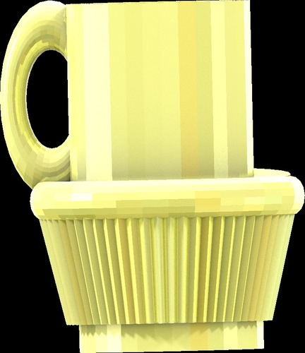 fullsized coffee cup cake cup all files 3D Print 14177