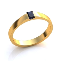 Small square diamond ring 3D Printing 141771