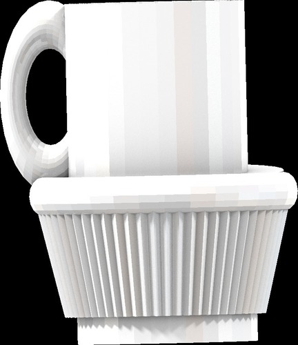 fullsized coffee cup cake cup all files 3D Print 14178