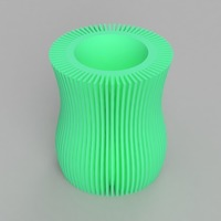 Small Linear Pattern Vase 3D Printing 141788