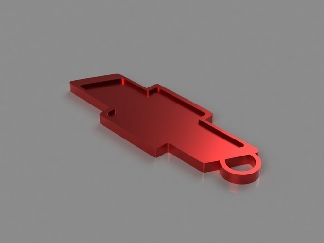 Chevy Key Chain 3D Print 141804