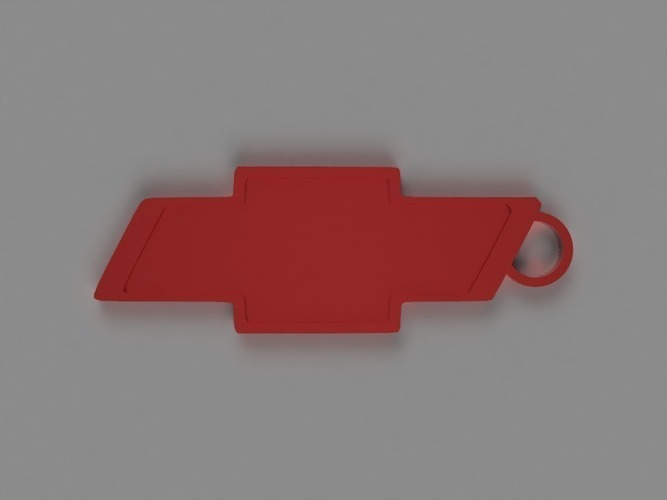 Chevy Key Chain 3D Print 141807