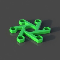 Small 10MM Nut Fidget Spinner ( 6 Nuts ) 3D Printing 141812