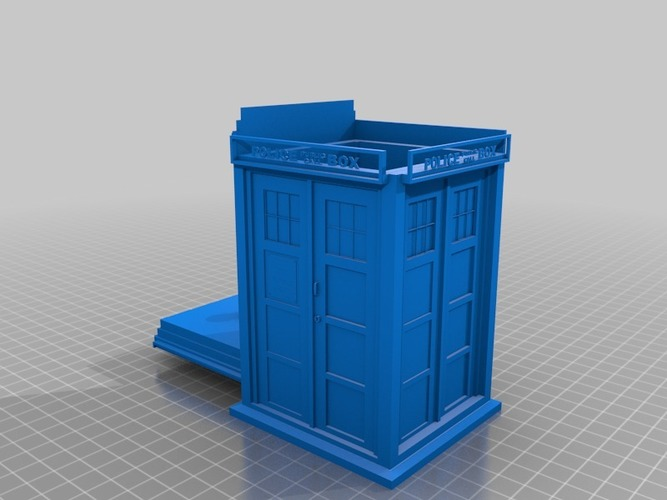 Tardis cookie jar/ box 3D Print 14182