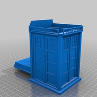 Small Tardis cookie jar/ box 3D Printing 14182