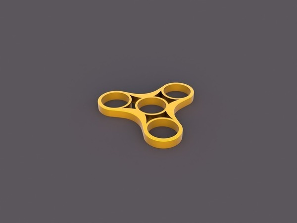 Medium Fidget Spinner Triple 3D Printing 141828