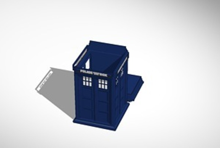 Tardis cookie jar/ box 3D Print 14183