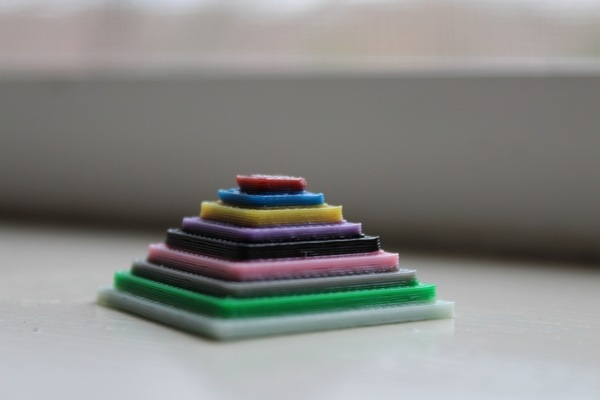 Medium Color Test Pyramid  3D Printing 141832