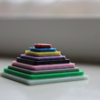 Small Color Test Pyramid  3D Printing 141832