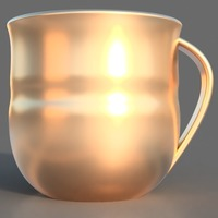 Small Golden Cup 3D Printing 141855