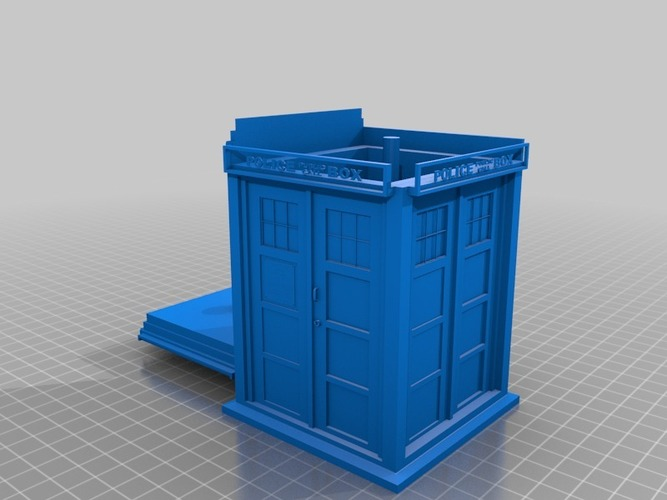 tardis counsel inside tardis with lift off roof 3D Print 14186