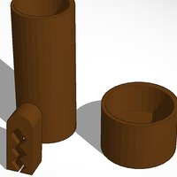 Small coffee canister and coffee bag clip 3D Printing 14187