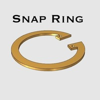 Small Snap Ring 3D Printing 141897