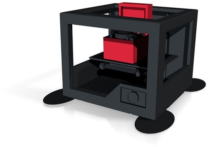 3d printer printing record player in full  colour x3d and wrl co 3D Print 14191