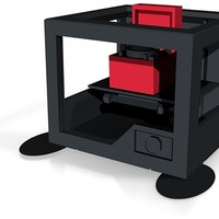 Small 3d printer printing record player in full  colour x3d and wrl co 3D Printing 14191