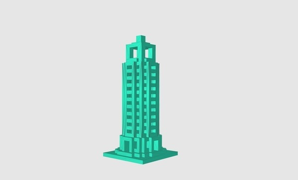 Medium Skyscraper  3D Printing 141927