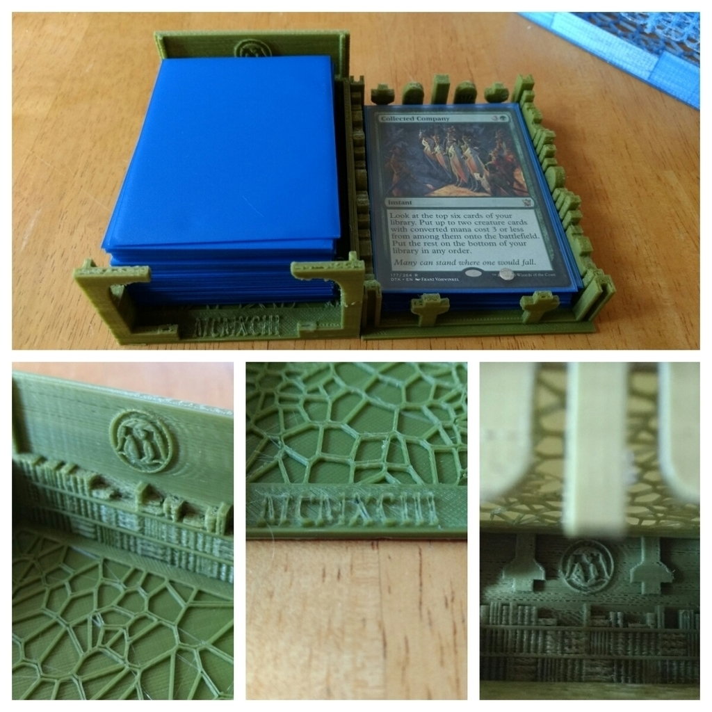 graphic about Printable Mtg Tokens called 3D Posted MTG Deck Box Library and Graveyard as a result of drcameron