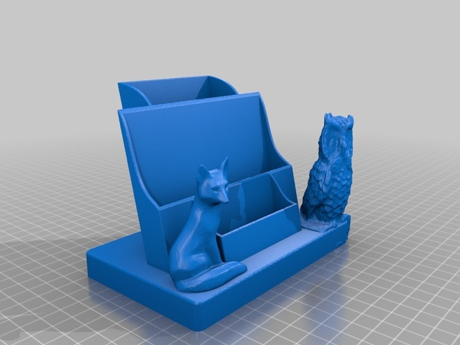 leaflet and card holder fixed with cloud netfab 3D Print 14205