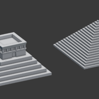 Small Two types of pyramids 3D Printing 142138