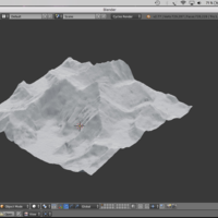Small Mount Everest Miniature with touchable profile 3D Printing 142141