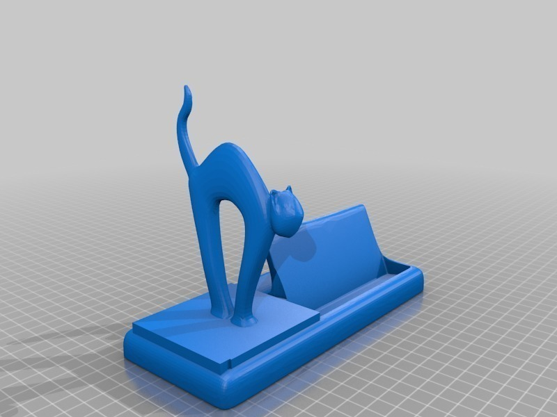 3D Printed mr cat says meow! business card holder by ...