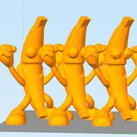 Small NANNER the Banana #PBJT Peanut Butter Jelly Time!  3D Printing 142173