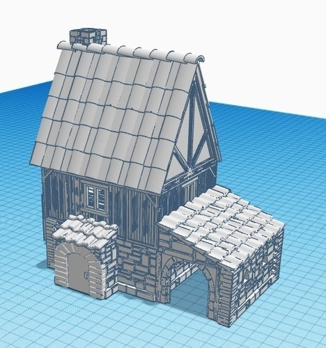 Medieval House 1 , for warhammer or other game - Wargame scenery 3D Print 142208