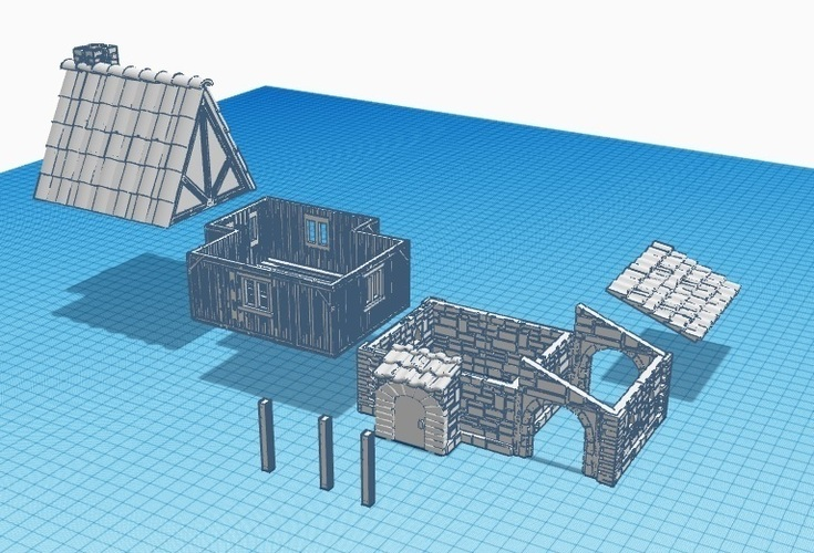 Medieval House 1 , for warhammer or other game - Wargame scenery 3D Print 142209