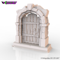 Small HG3D Wooden Door - 28mm 3D Printing 142236
