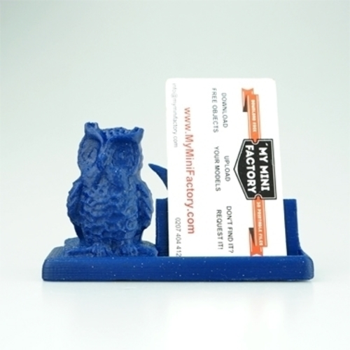 3D Printed mr owl says business card holder by