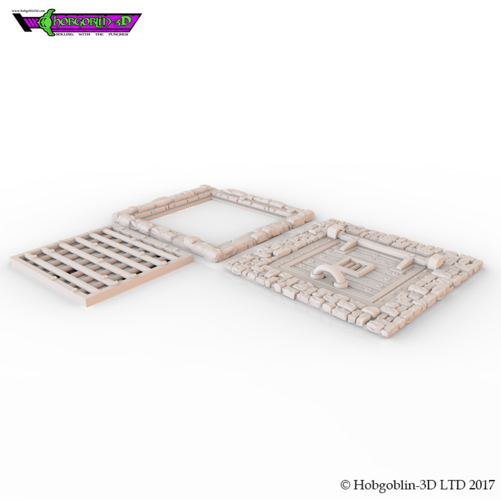 HG3D Freemasons Flooring Kit - 28mm 3D Print 142257