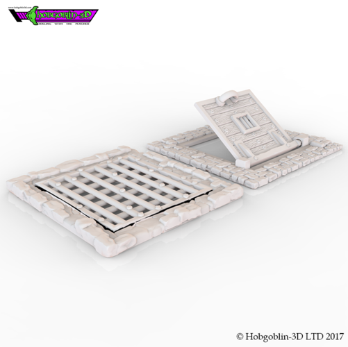 HG3D Freemasons Flooring Kit - 28mm 3D Print 142258