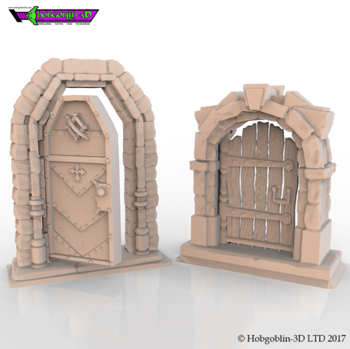 HG3D Freemasons Door Kit - 28mm 3D Print 142261