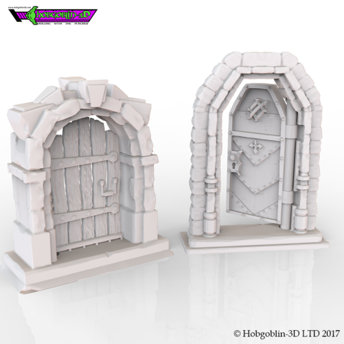 HG3D Freemasons Door Kit - 28mm 3D Print 142262