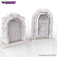 Small HG3D Freemasons Door Kit - 28mm 3D Printing 142262
