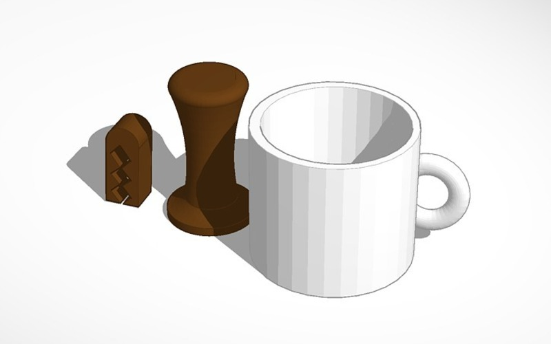 printable coffee set  3D Print 14231