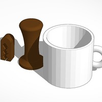 Small printable coffee set  3D Printing 14231