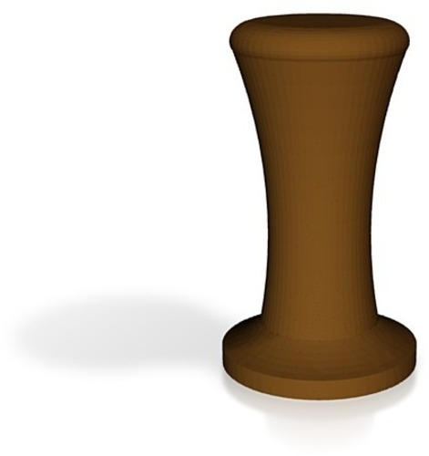 coffee tamper with handle brown 3D Print 14235