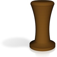 Small coffee tamper with handle brown 3D Printing 14235