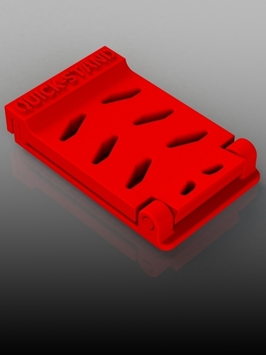 Quick-Stand Phone Stand - Portable 3D Print 142413