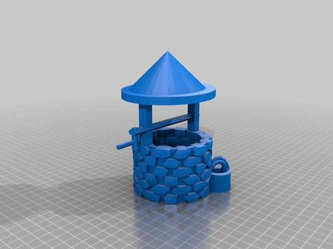 wishing well more printable less thin walls  3D Print 14243