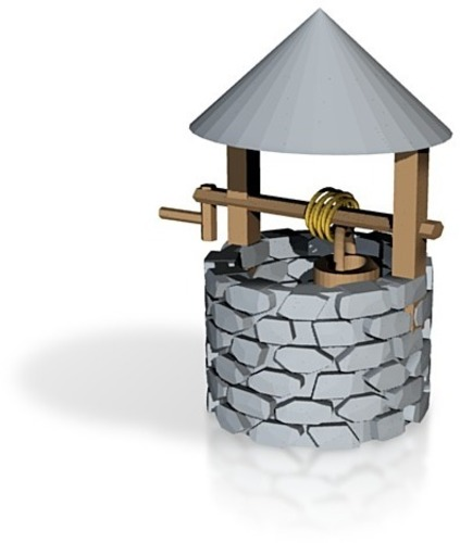 wishing well for frosted ultra detail or sculpteo 3D Print 14244