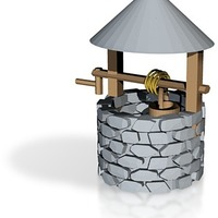 Small wishing well for frosted ultra detail or sculpteo 3D Printing 14244
