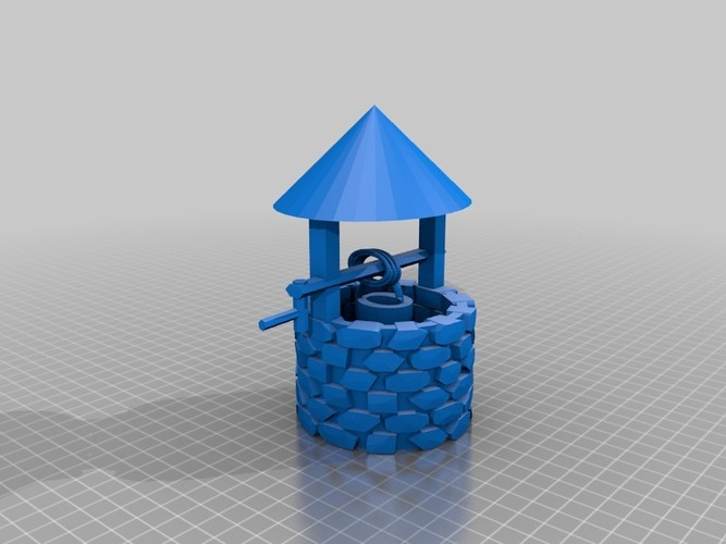 wishing well for frosted ultra detail or sculpteo 3D Print 14245