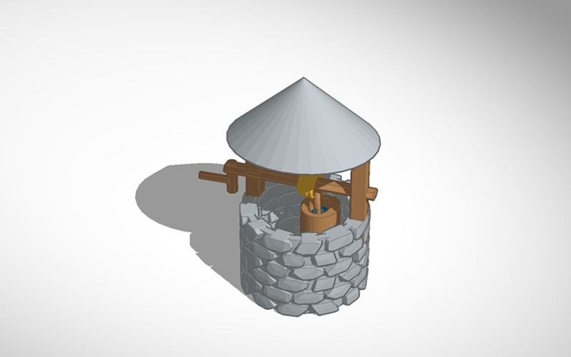 wishing well for frosted ultra detail or sculpteo 3D Print 14246